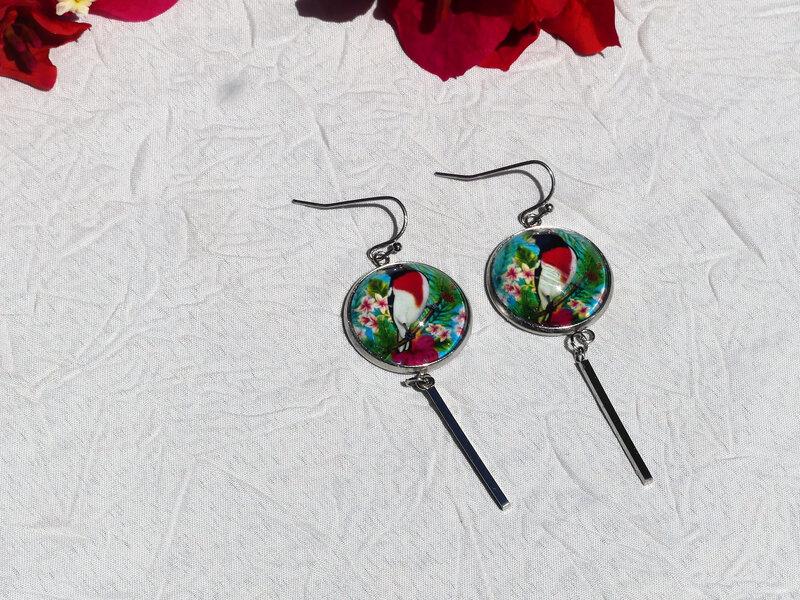 bijoux colores made in guyane par louise indigo oiseau retro rouge (12)
