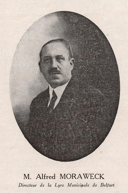 Belfort Alfred Moraweck Chef musique Lyre RR
