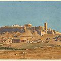 Vue générale de l'acropole d'athènes, par constant moyaux