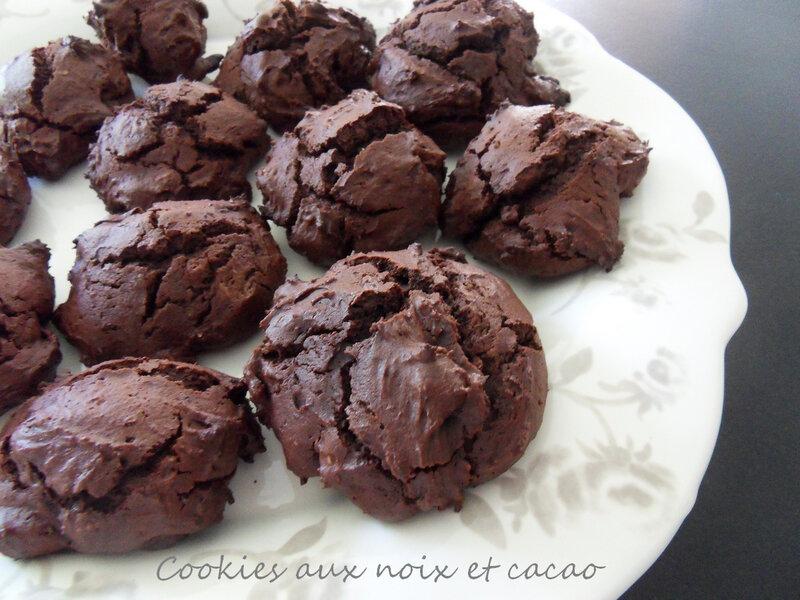 cookies au noix et cacao