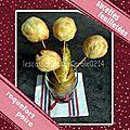 Pie pop sucette feuilletée roquefort & poire