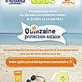 La quinzaine de la prévention solaire (bons de plans pour réductions utiles)