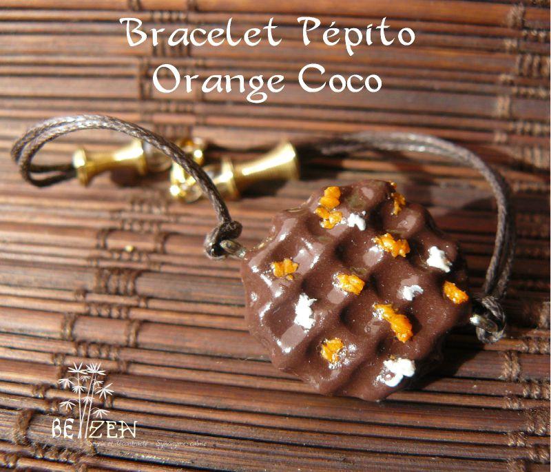 bracelet pépito orange coco