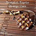 bracelet pépito orange coco