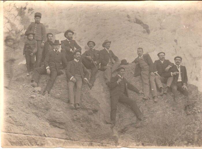 grupo de amigos en Tupiza - 1904