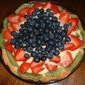 Jardinière aux fruits (tarte aux fruits d'été)