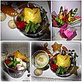 Salade de fruits exotiques et rouges