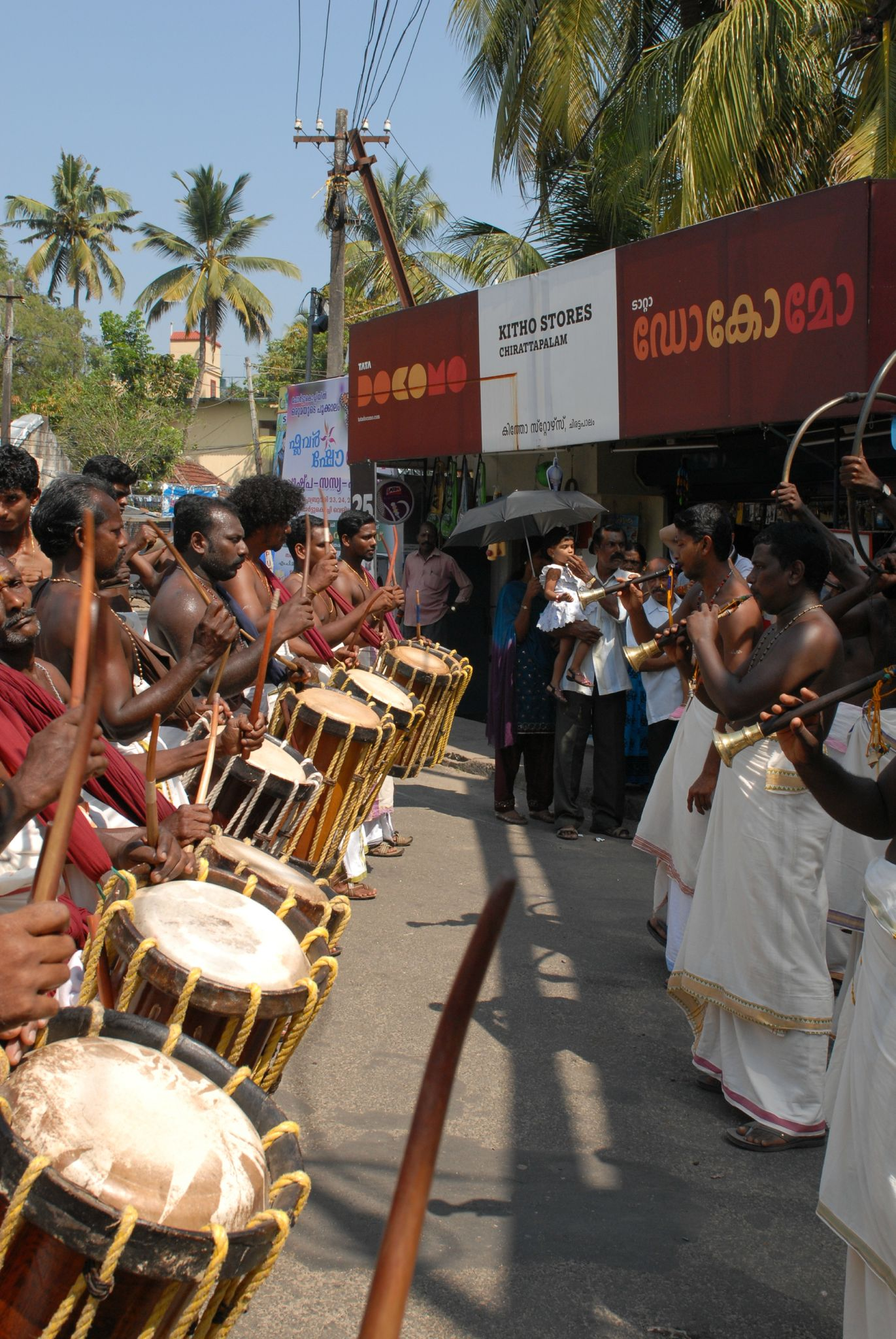 traditionnel fête à fort Cochin