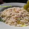Risotto au raisin blanc et jambon cru