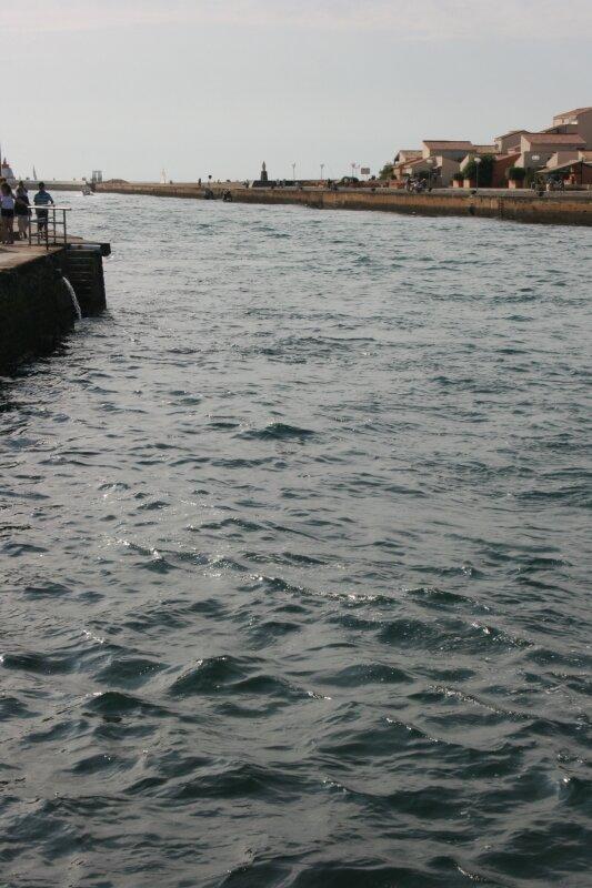 Entrée du port de Capbreton