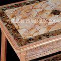 Table FAUX MARBRE -Technique peinture Acrylique