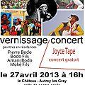 Exposition concert le 27 avril
