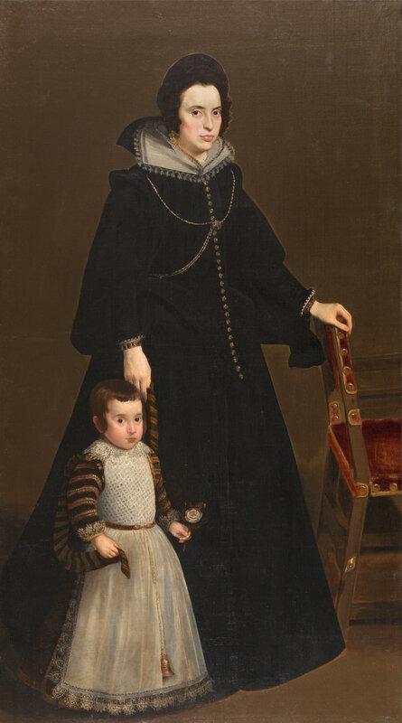 Antonia de Ipeñarrieta y Galdós and her Son, Luis