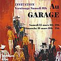 Exposition arts au garage, paris, 15-16 mars 2014