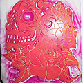 Carve stamp v : sugar skull rose