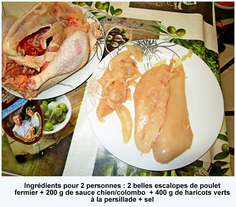 ingredients poulet chien colombo