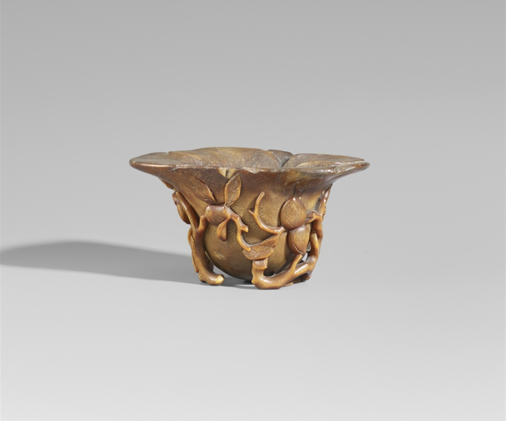 A rhinoceros horn libation cup, 18th-19th century
