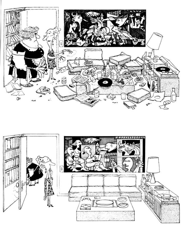Cleaning Day (Guernica) Quino