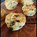 Muffins au chèvre et aux épinards
