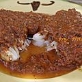 Dos de cabillaud à la sauce tomate aux amandes
