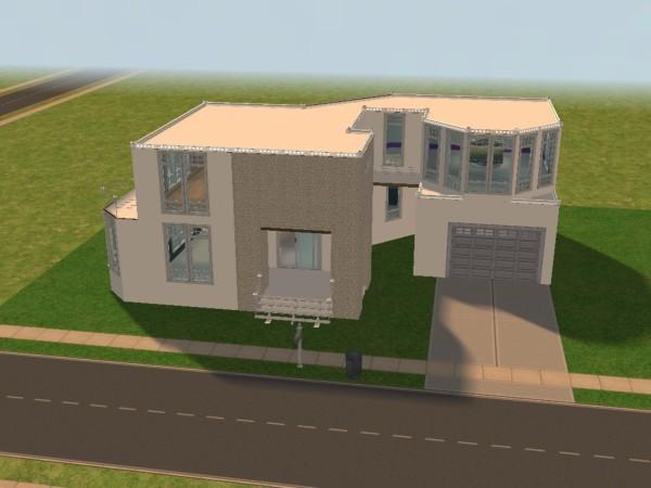 maison moderne pommekiwi 39 s sims. Black Bedroom Furniture Sets. Home Design Ideas