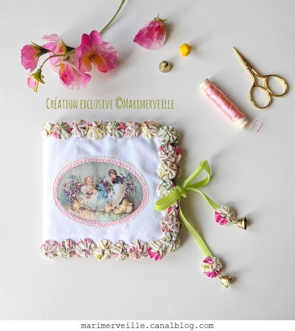 Carnet couture de pâques - easter & liberty- création©Marimerveille