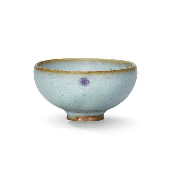 A small Jun purple-splashed 'bubble' bowl, Jin dynasty (1115-1234)