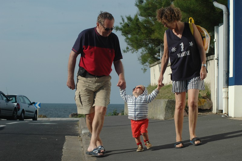 Avec mes parents, à Cabourg