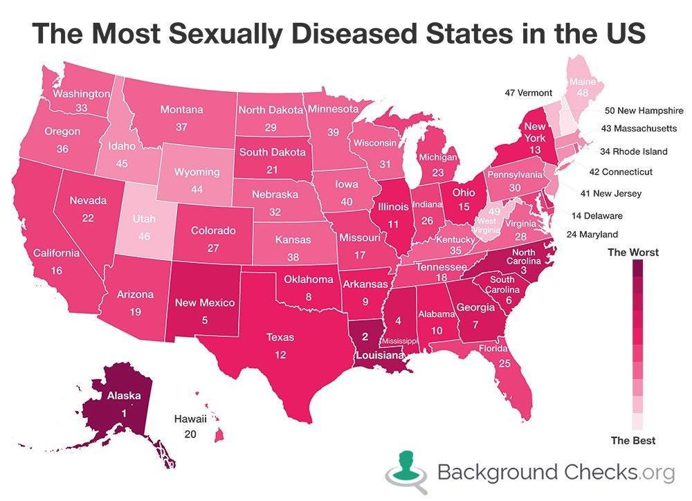 usa-The most sexually diseased states in the US