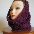 Crochet: snood dentelle