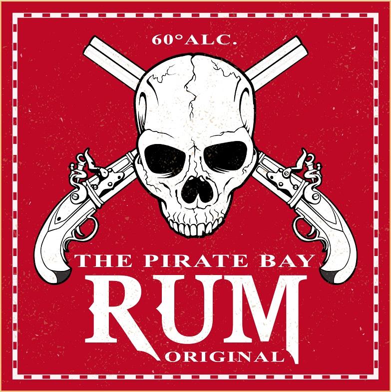 label pirate skull rum printable rhum Birthday 17