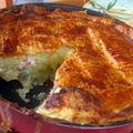Gâteau feuilleté de pommes de terre aux petits lardons