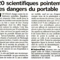 20 scientifiques pointent les dangers du portable