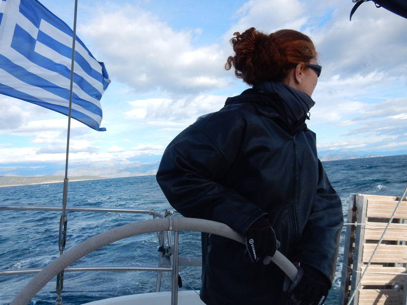 Golfe de Corinthe, Emma à la barre 241219