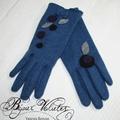 Création gants fantaisie en laine pour femme élégante - gants bleu jeans