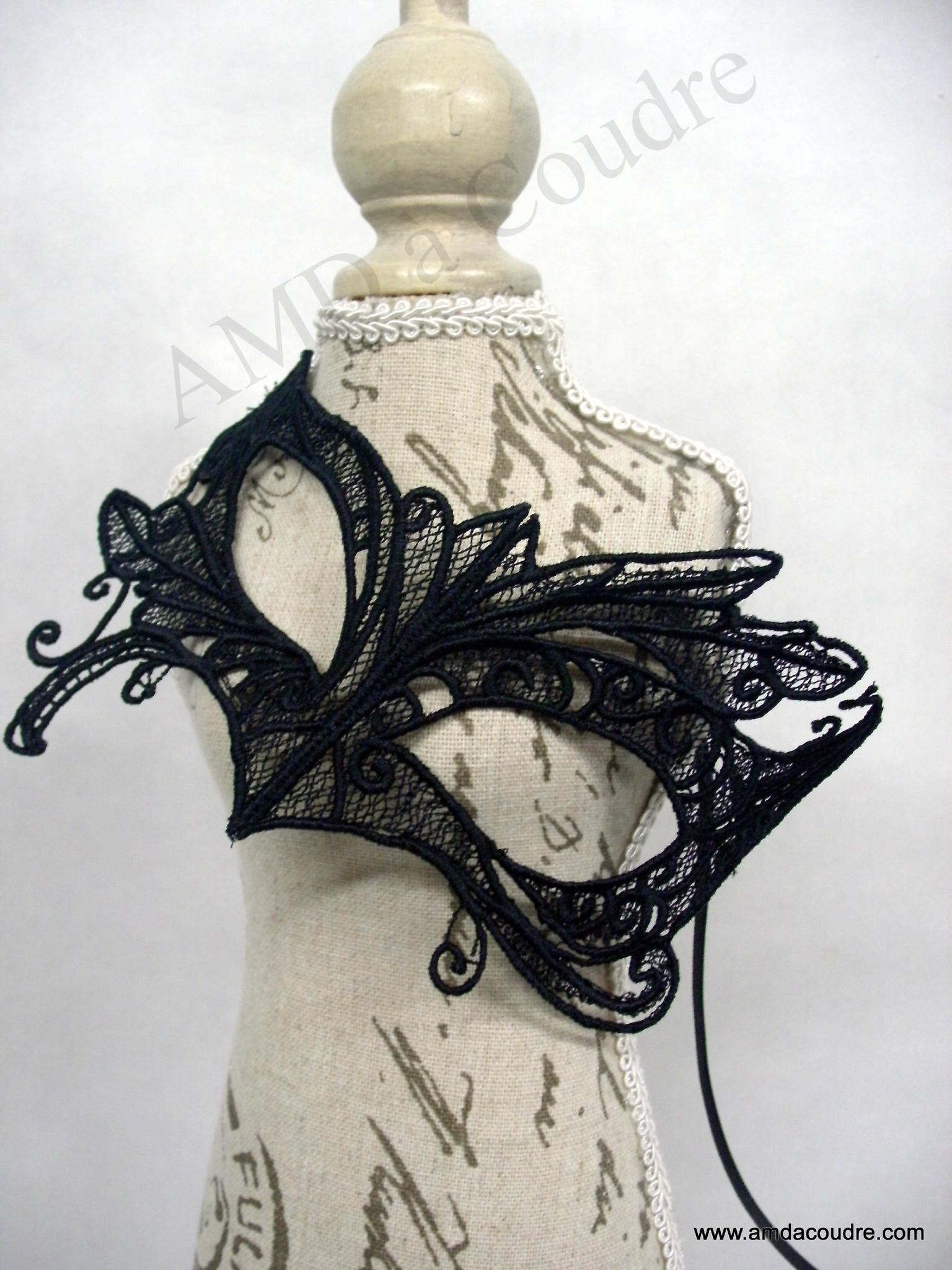 masque vénitien dentelle noire par amd a coudre (2)