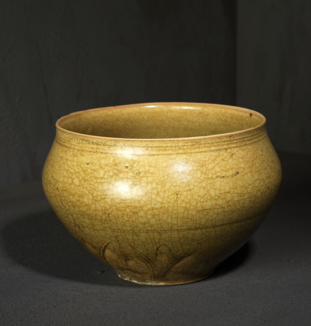 Bol, Grès à décor incisé sous couverte céladon, Vietnam, Dynastie Trân, 13°-14° siècle