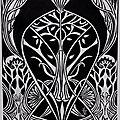 Linogravures : Art nouveau