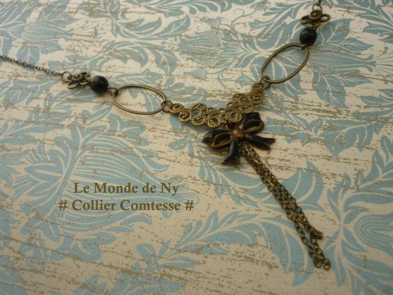 Collier Comtesse - Noir