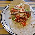 Burrito de jambon braisé aux légumes et au fromage