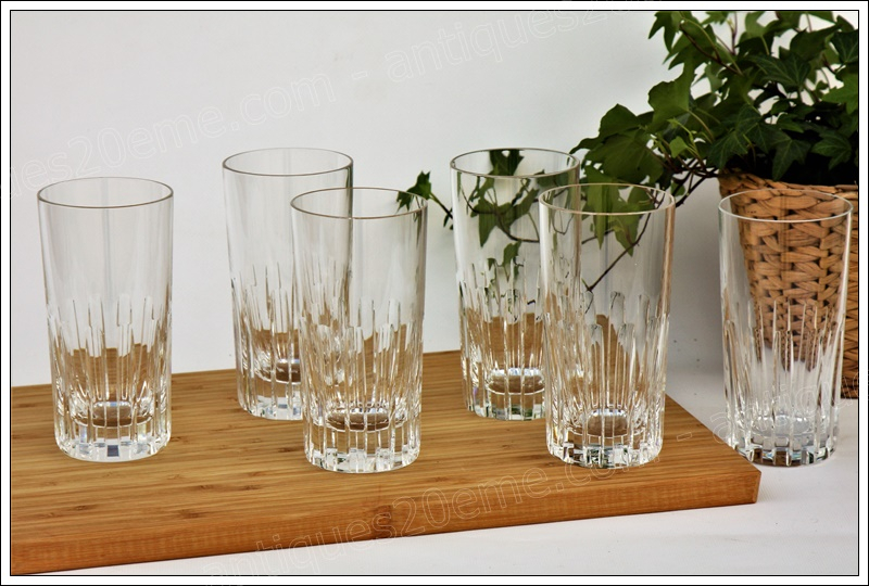 Service verres cristal Baccarat Rotary