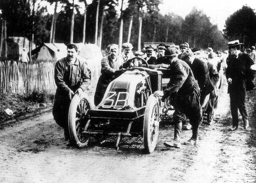1906 gp de l'acf, le mans - j edmond (renault ak 4-cyl 13-litre 90hp) dnf 5 laps driver injured 1