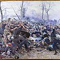 Binet (Adolphe), la mêlée attaque de la brigade des fusiliers marins, près de Paris 1870