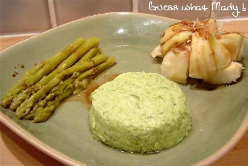 Mousse de légumes verts