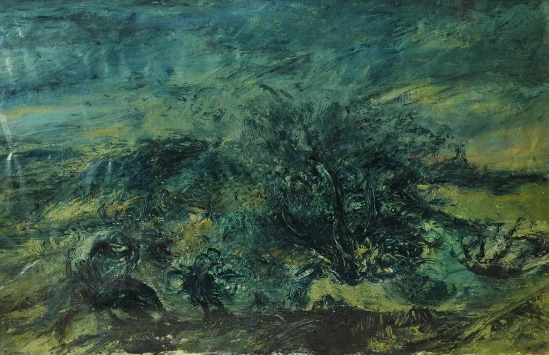 Lector i paisatge, 1993 98 x 155Oli s/paper