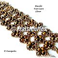 Bracelet Four leave clover-MANEK1 copy