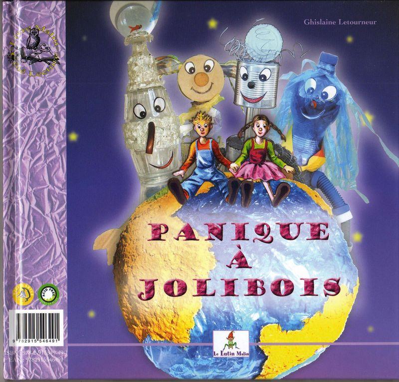 Couverture Recto Panique à Jolibois - Ecologie enfants