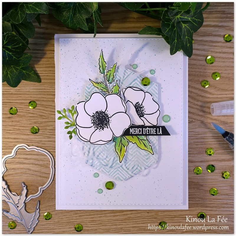 Carte Painted Poppies Blancs 1