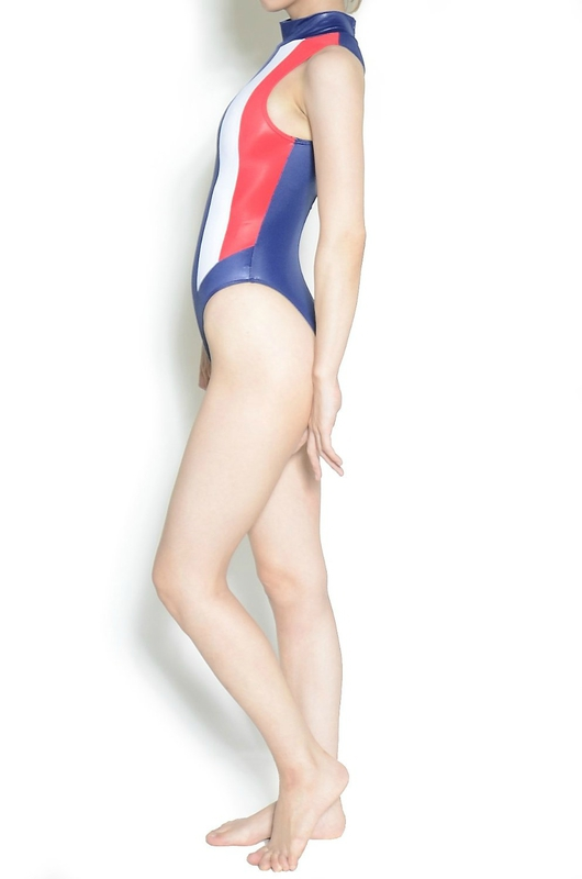 Maillot N-037 Shiny Red white & Blue UltraThin by Realise