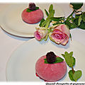 Dessert glace aux fruits rouges